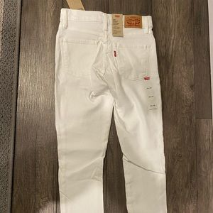 NWT ladies white Levis 311 shaping skinny Jean!
